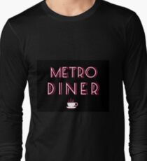 Metro Art Deco Diner Sign Long Sleeve T-Shirt
