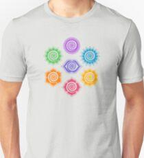 7 Chakras, Cosmic Energy Centers, Evolution, Meditation, Enlightenment Unisex T-Shirt