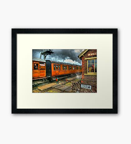 The Way Travel Used To Be Framed Print
