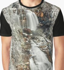Whitewater Falls in White Graphic T-Shirt