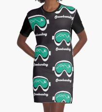 snowboard goggles Graphic T-Shirt Dress