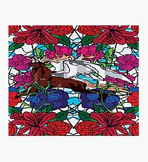 Stained Glass Elk Photographic Print