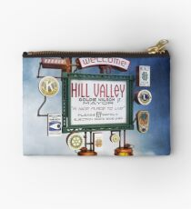 Welcome to Hill Valley - Sky Way Billboard Studio Pouch