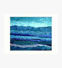 Blue View Art Print