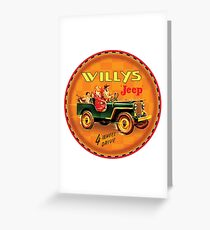 Post War Willy's jeep USA Greeting Card