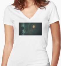 Bioshock Infinite Rapture Colombia Women's Fitted V-Neck T-Shirt