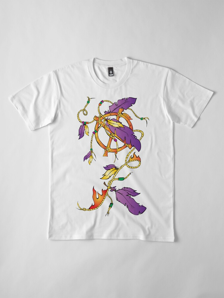 Alternate view of Feather Dream Wheel Premium T-Shirt