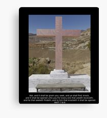 Peace in the Wilderness with bible verse Canvas Print