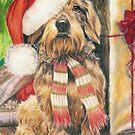 Santa's Little Yelper by BarbBarcikKeith