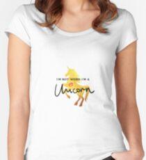 Golden unicorn  T shirt graphics slogan Women's Fitted Scoop T-Shirt