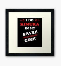 Brazilian Jiu-Jitsu BJJ MMA I Do Kimura Spare Time Framed Print