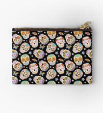 Sugar skulls on black Studio Pouch