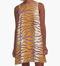 LSU Tiger Stripes 4 A-Line Dress