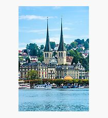 View of historic Luzern city center Photographic Print