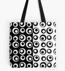 Mod Love Black & White Circles Dots Tote Bag