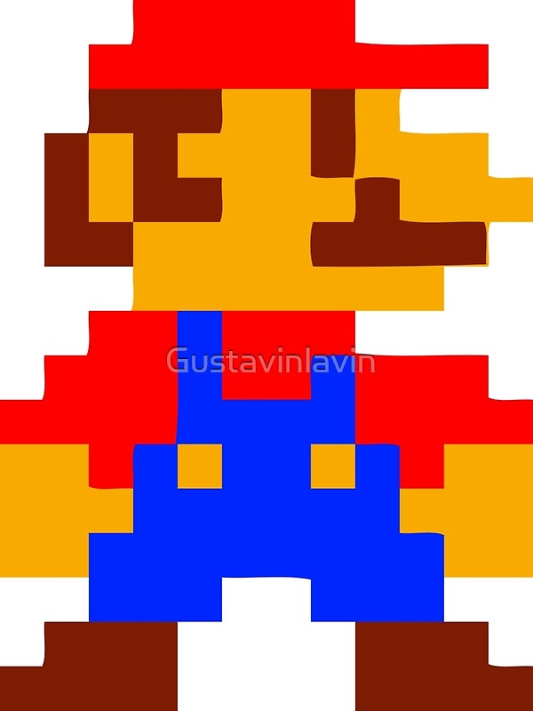 quotsuper mario bros pixelquot art prints by gustavinlavin
