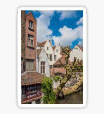 Beautiful canal of Bruges Belgium Sticker