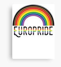 Europride 2018 Rainbow Canvas Print