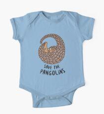 Speichern Sie die Pangolins - Pangolin zusammengerollt Baby Body Kurzarm