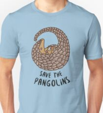 Save the Pangolins - Curled up Pangolin Unisex T-Shirt