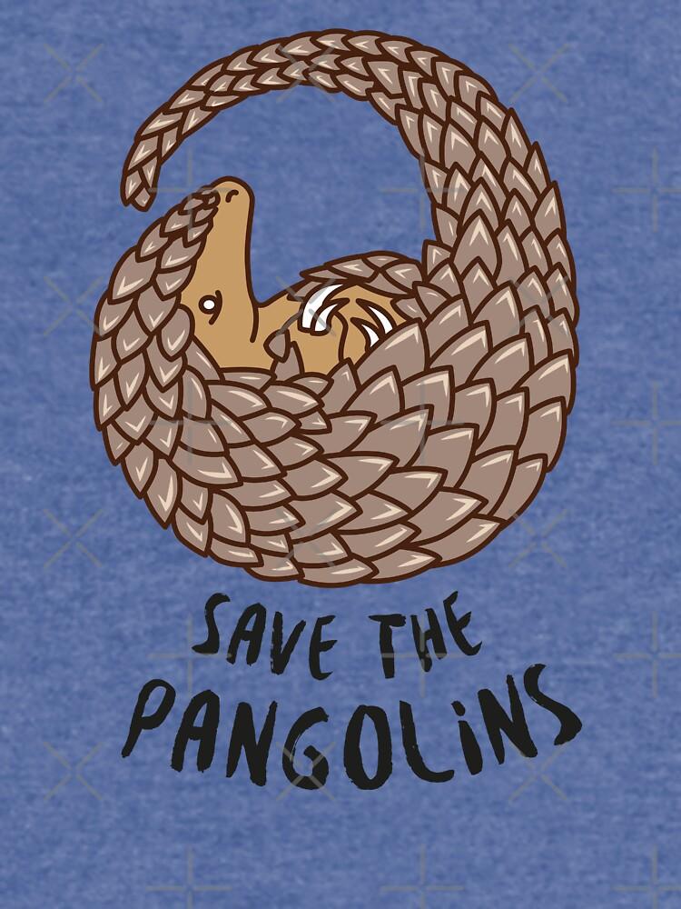 Speichern Sie die Pangolins - Pangolin zusammengerollt von Bangtees