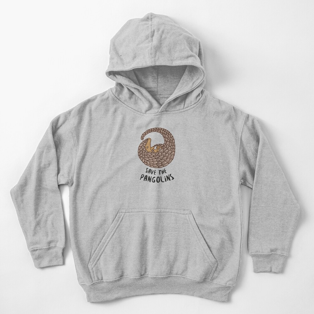 Save the Pangolins - Curled up Pangolin Kids Pullover Hoodie