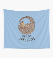 Save the Pangolins - Curled up Pangolin Wall Tapestry