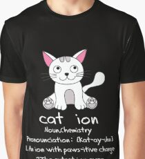 Cat Catlovers love pet paws cation nerd geek periodic system Graphic T-Shirt
