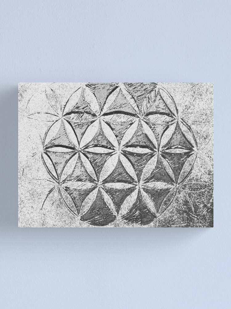 Alternate view of Flower of Life Grey Fractal Canvas Print