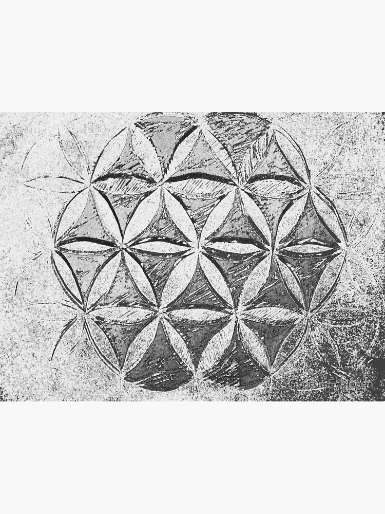 Flower of Life Grey Fractal by gudders