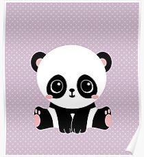 Cute Panda (Purple) Poster