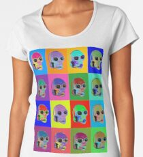 SKULL Call Center Agent - POP ART Women's Premium T-Shirt