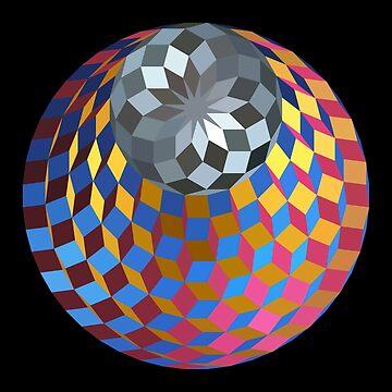 Metallic Cube Gem by Girih