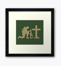 Soldier and the Cross Framed Print