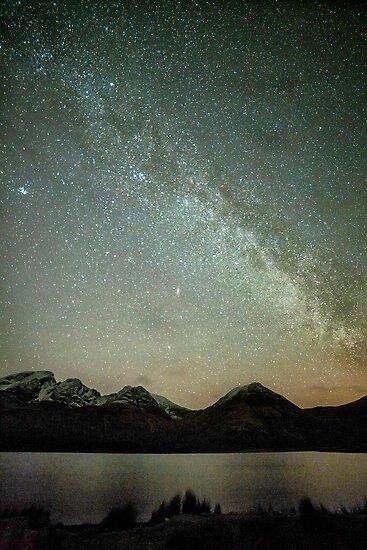 Milky Way Over Bla Bheinn and Loch Slappin by derekbeattie