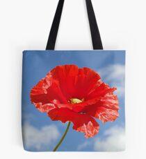 The Single Poppy Tote Bag