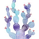 Watercolour Galaxy Cactus by 416studios