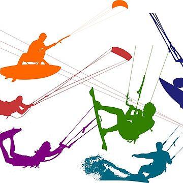 Kitesurfers by MUZA9