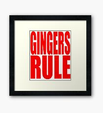 Gingers Rule Funny Cute T Shirt Red Head Redhead Red Hair Gift Ginger Framed Print