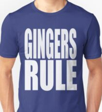 Gingers Rule Funny Cute T Shirt Red Head Redhead Red Hair Gift Ginger Unisex T-Shirt