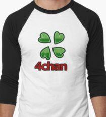 4chan logo for anon's Men's Baseball ¾ T-Shirt