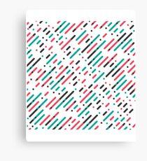 Striped pattern - House Music pattern Canvas Print