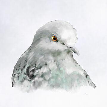 Bird: Pigeon by bamalam-art