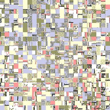 Colorful Abstract Squares Pattern by perkinsdesigns
