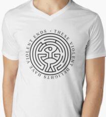 Westworld - These violent delights have violent ends (white) Men's V-Neck T-Shirt