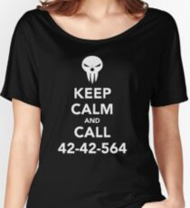 Keep calm and call 42-42-564 Call the Shinigami Women's Relaxed Fit T-Shirt