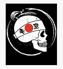 Japan skull old style Photographic Print