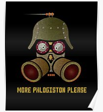 More Phlogistan Please Funny Steampunk Science Physics T-shirts and Gifts Poster