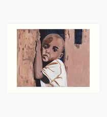 Little Ugandan Boy Acrylic Art Art Print
