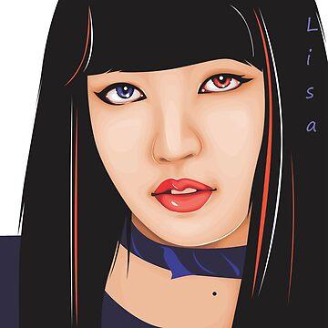 Lisa of BLACKPINK (Kpop) by andylee21